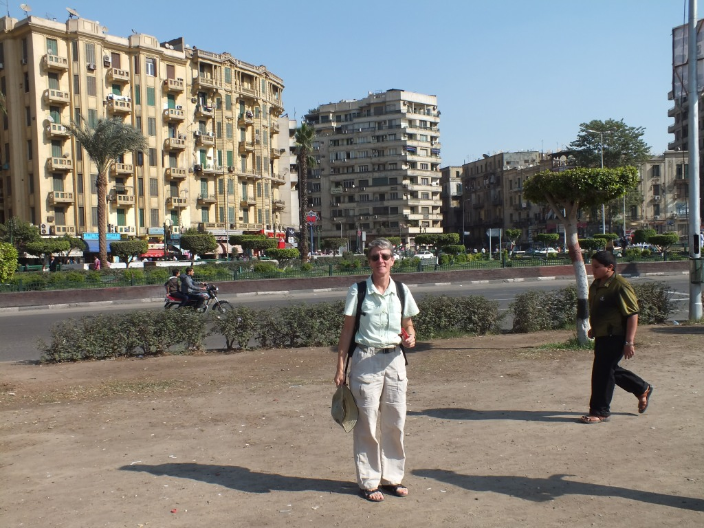 CarolAnn at the history making Tahrir Square