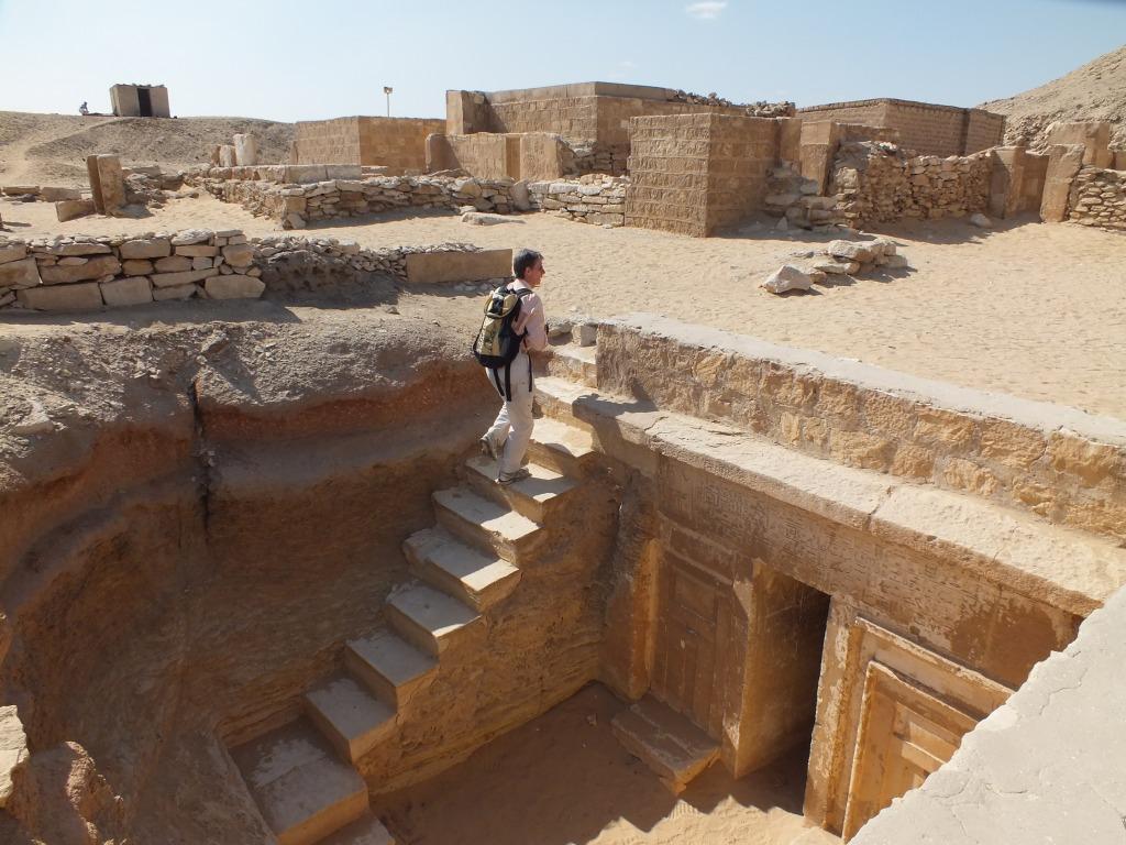 CarolAnn at the Mastaba Tombs of Saqqara