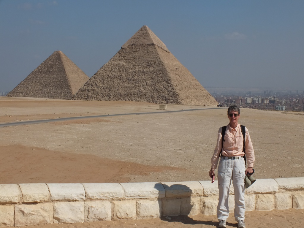 CarolAnn at the Giza Pyramids