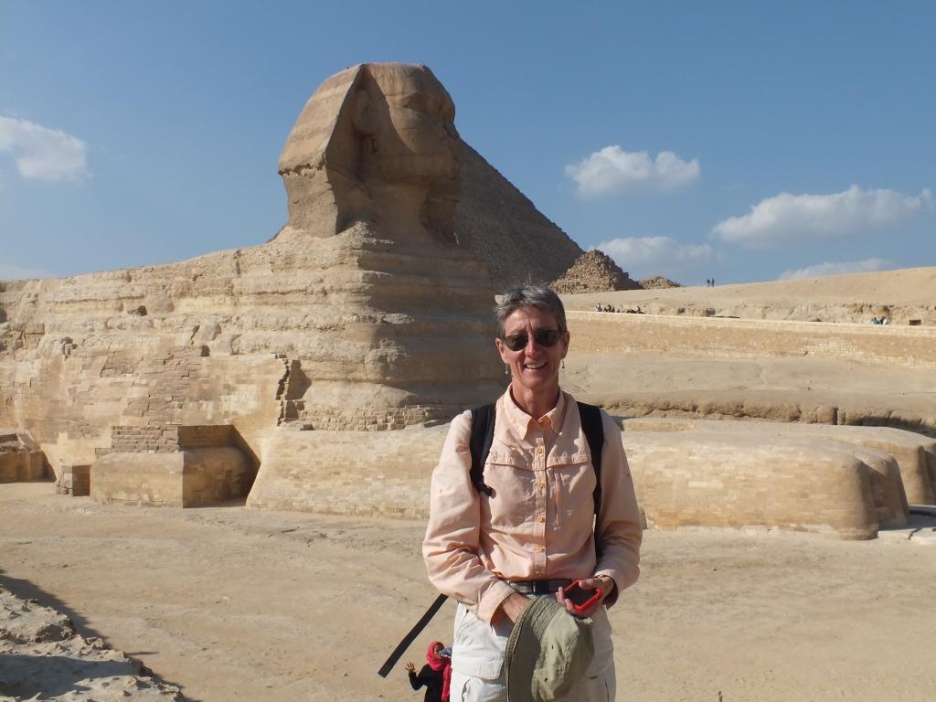 CarolAnn at the Pyramids