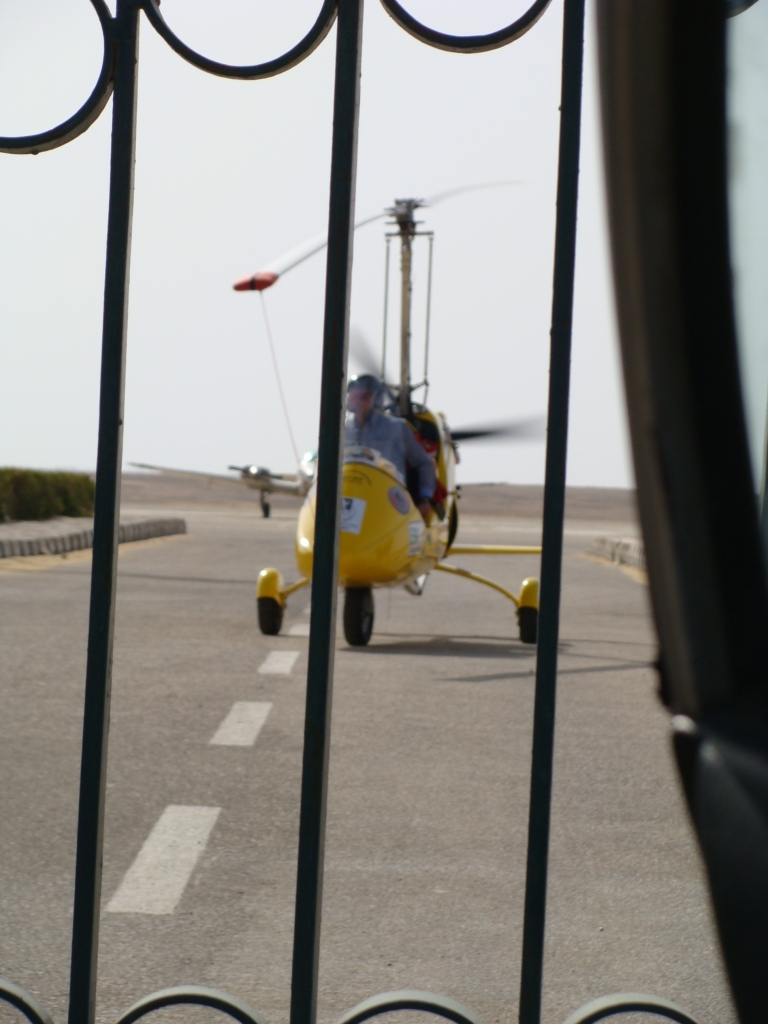Norman taxis G-YROX back to the side gate so we can refuel her.