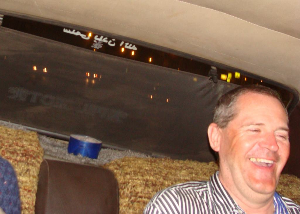 Norman certainly enjoyed the taxi ride home!