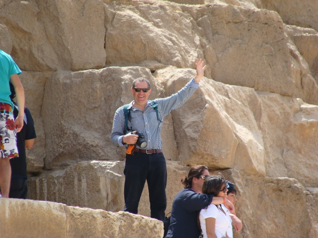 Norman waves from half way up the Great Pyramid.