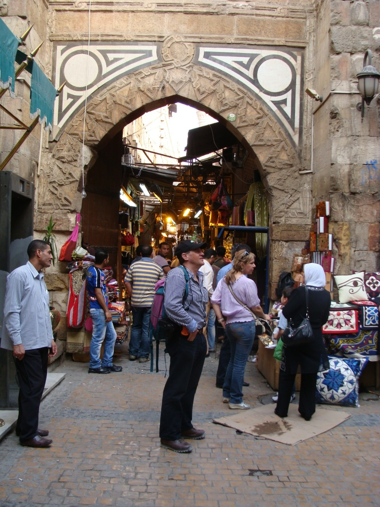 Norman at one of the ancient gates into the Khan El Khalili.