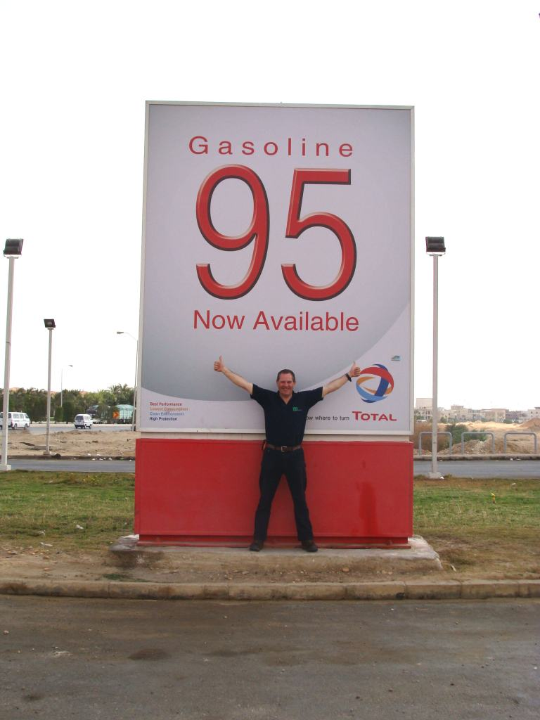 Norman is really pleased to find a gas station selling 95 octane mogas.