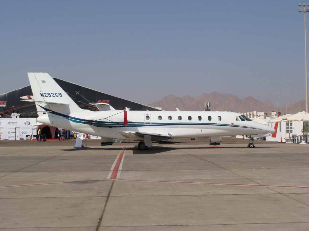 N292CS - A true 'tail-number' on this American registered Cessna Citation Sovereign.