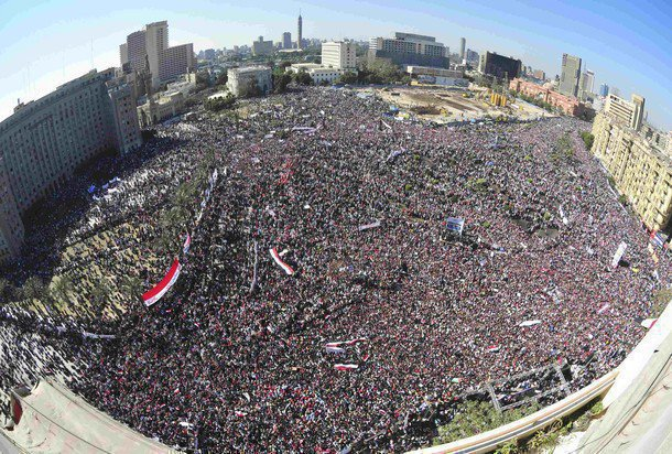 Tahrir Square Cairo on the 'Day of Rage'