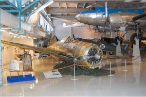 The Brewster fighter rests inside the Finnish Air Force Museum.Credit: Finnish Air Force Museum via the National Naval Aviation Museum.