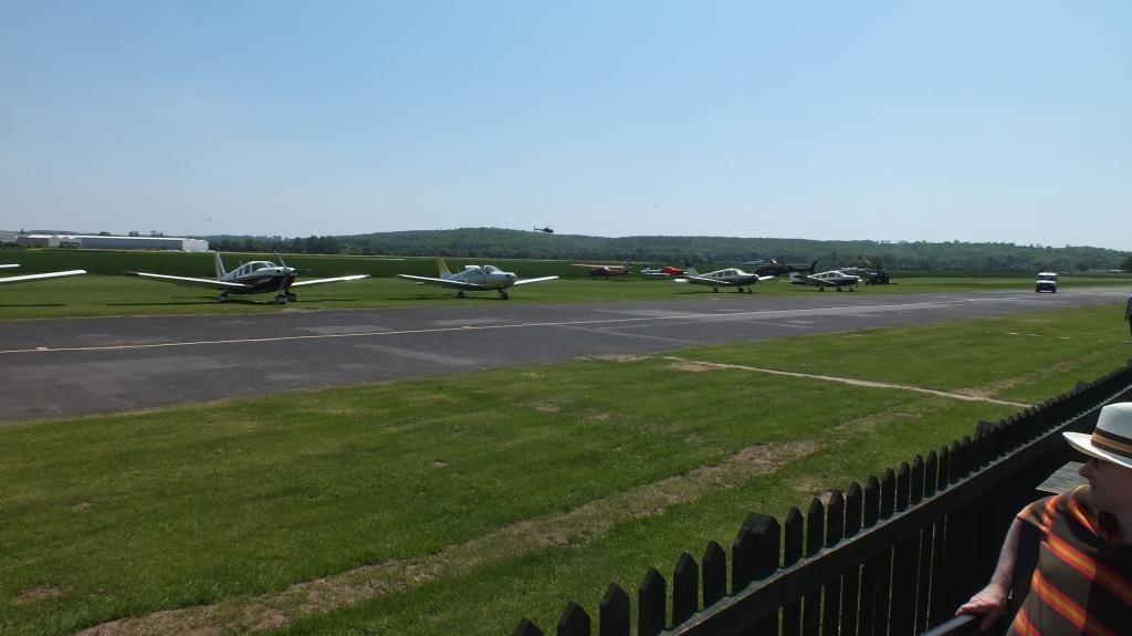 Taxiway and parking view from cafe