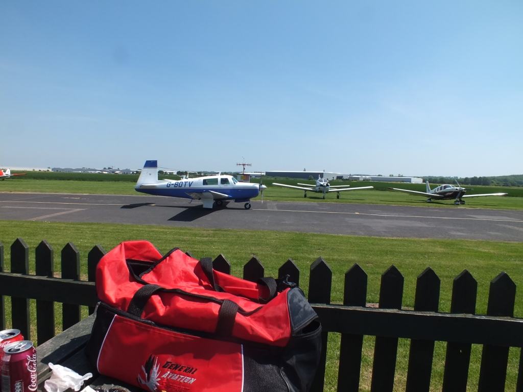The goody filled G.A.S.E. kitbag with a Mooney M20