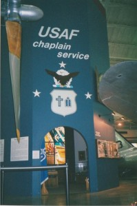 USAF Chaplain Service Display at the NMUSAF. Photo - John Stemple