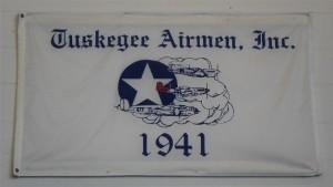 Tuskegee Airmen banner in fantasy of Flight hangar.Photo: John Stemple