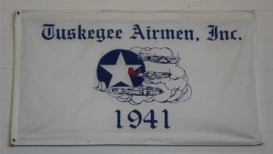 Tuskegee Airmen banner in fantasy of Flight hangar.Photo: John Stemple